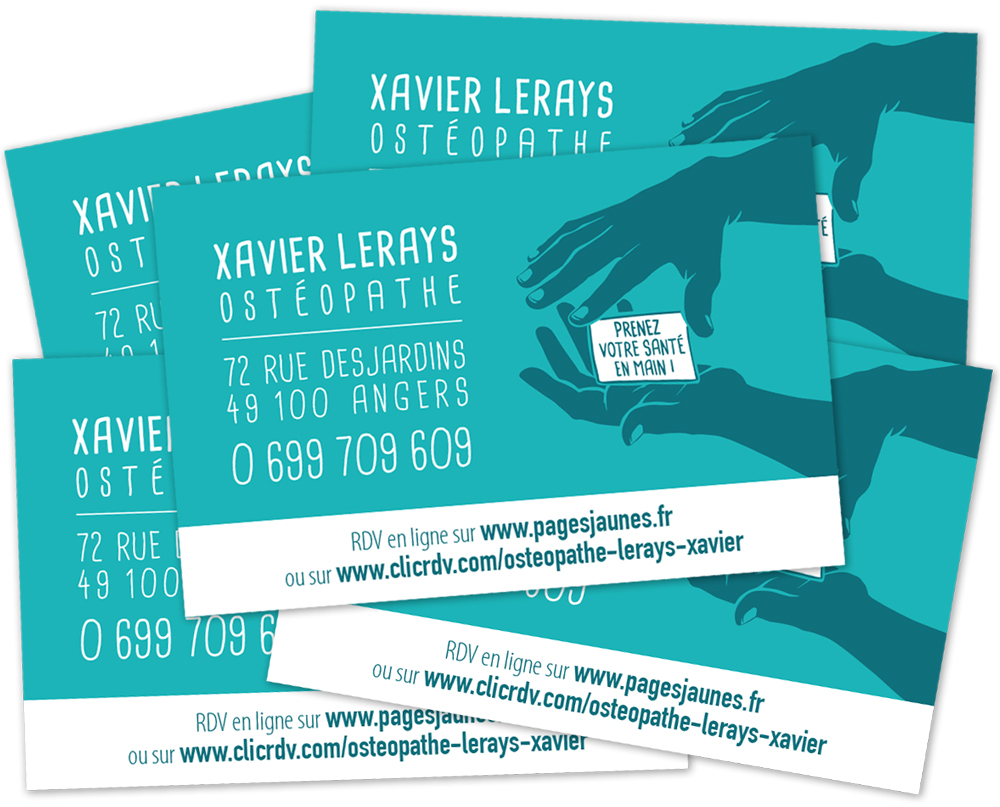 CARTES DE VISITE ILLUSTRES Sur Mesure